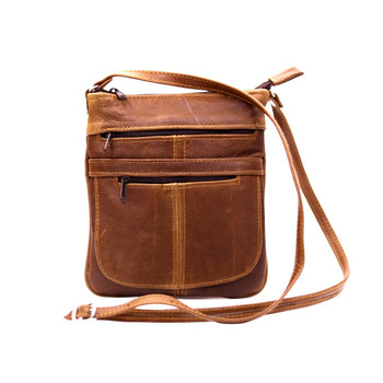 3 Zipped Pockets Sling bag - Large (24x20.5cm)