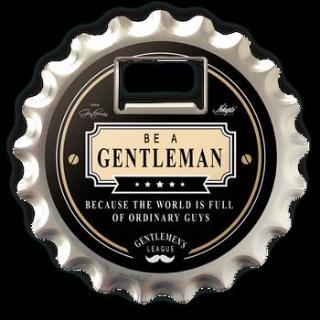 Gentleman's Bottel Opener / Coaster/ Magnet