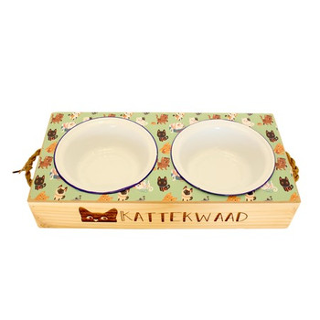 Engraved Cat Food Platter - Kattekwaad