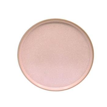 Peach Pink and White Speckled Dinner Plate (26cm)