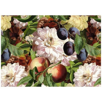 Disposable Placemat - Pack of 24 - Antique Peaches & Plums
