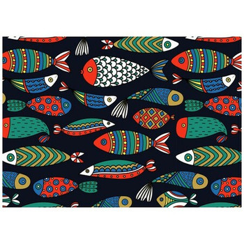 Disposable Placemat - Pack of 24 - Under Sea Fishes