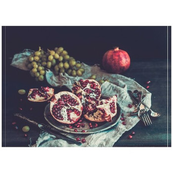 Disposable Placemat - Pack of 24 - Pomegranates Still Life