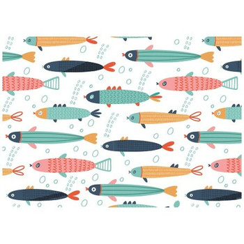 Disposable Placemat - Pack of 24 - Cartoon Fish