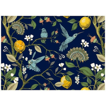 Disposable Placemat - Pack of 24 - Humming Bird Blue