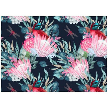 Disposable Placemat - Pack of 24 - Protea, Birds & Insects