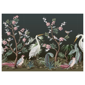 Disposable Placemats - Pack of 24 - White Herons In Rose Garden