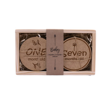 Engraved Baby Month To Month Boards (Set of 12)
