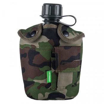 Kaufmann Water Bottle & Camo Cover 1L
