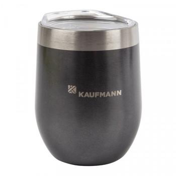 Kaufmann Tumbler Wine Double Wall With Lid Grey