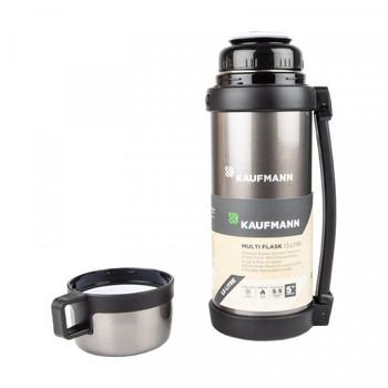 Kaufmann Flask - Handle Stainless Steel Grey 1.5L