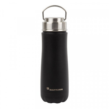 Kaufmann 590ml Flask Traveler Stainless Steel Black