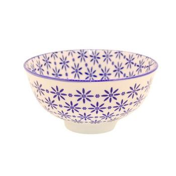 Ceramic Bowl - 12x6cm - Blue flower Pattern