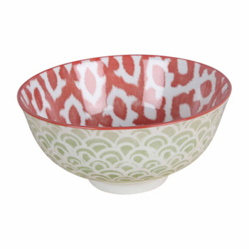 Red and Green Ceramic Bowl