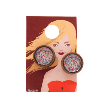 Multi Colour Small Daisies Earring