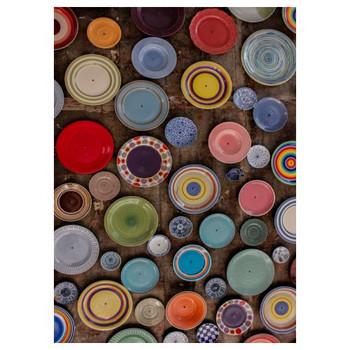 Medium PVC Table Cover - Multi Colored Plates