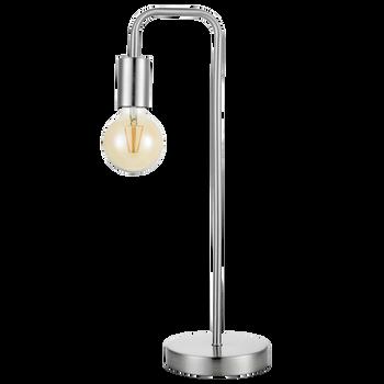 Satin Chrome Metal Lamp