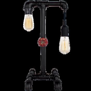 Table / Floor Industrial Black Metal Lamp (50cm)