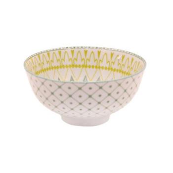 Ceramic Bowl - 11.5x5.5cm - Grey & Yellow Designs