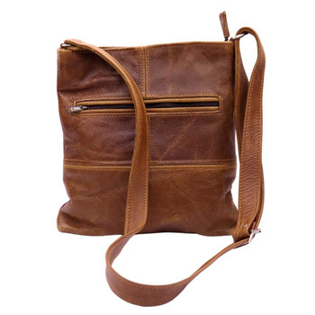 One Zip Small Leather Strap Bag