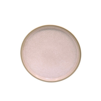 Peach Pink and White Speckled Side Plate (21cm)