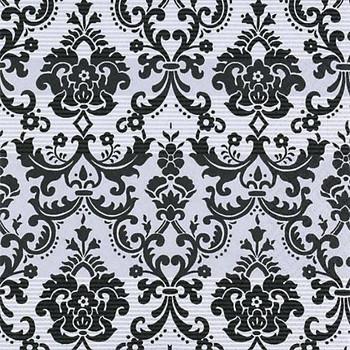 Serviette - Damask Silver Black (33x33cm)
