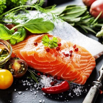 Serviette - Delicious Salmon (33x33cm)