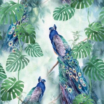 Serviette - Peacock Paradise (33x33cm)