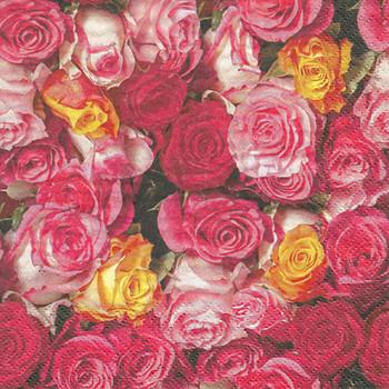 Serviette - Rosas Coloridas (33x33cm)