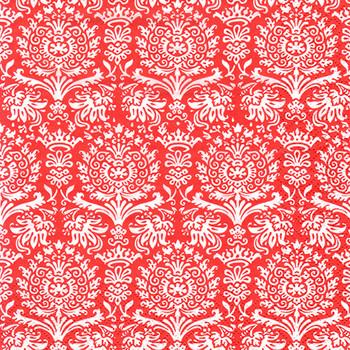 Serviette - Royal Damask Red (33x33cm)