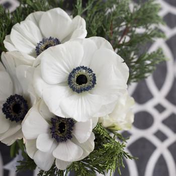 Serviette - White Anemones (33x33cm)
