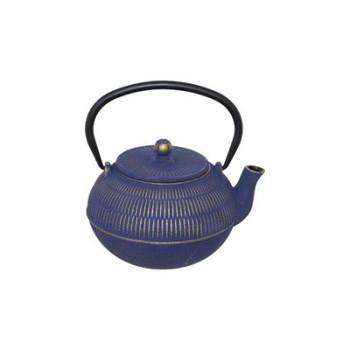 Quin Blue Cast Iron Tea Pot 900ml
