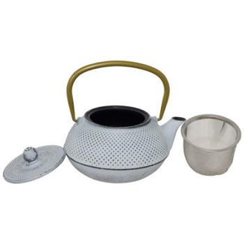 Quin White Cast Iron Teapot 800ml
