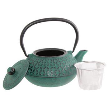 Quin Teal Cast Iron Tea Pot 900ml