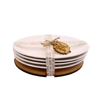 White Oval Ceramic Bowl - Set of 4
