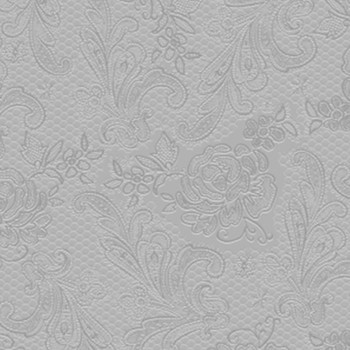 Serviette - Lace Embossed Silver (33x33cm)