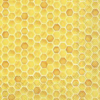 Serviette Yellow Honeycomb (33x33cm / 20)