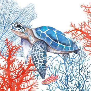Serviette - The Turtle (33x33cm)