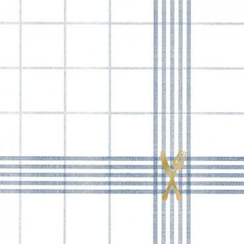 Serviette - Cuisine Blue (33x33cm)