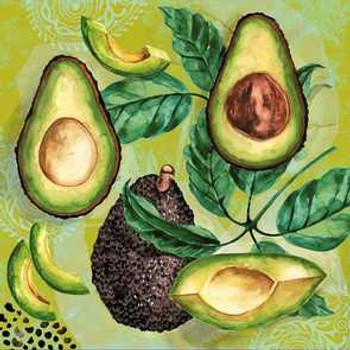 Serviette - Avocado (33x33cm)