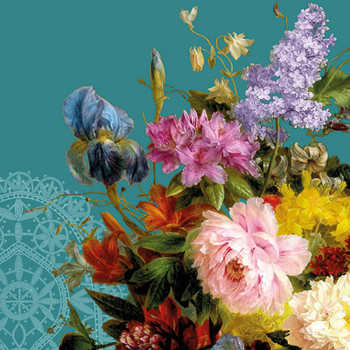 Serviette - Still Life Bouquet (33x33cm)