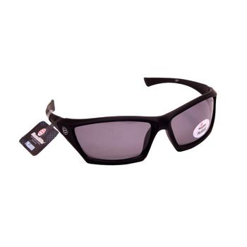 Sport Sunglasses / Plastic Frame Black /Smoke Lenses