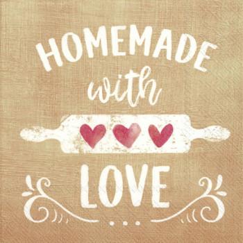 Serviette Homemade Cream (33x33cm)