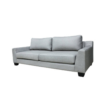 Madonna Couch - Cobblestone with Wooden Legs