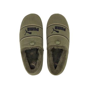 Tuff Moccasins Slippers - Burnt Olive Pale Khaki