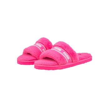 Fluff Woman Slides - Fluorescent Pink