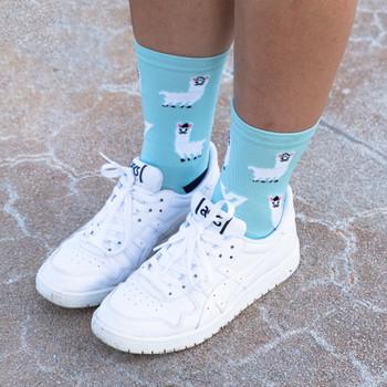 Socks - Active Llama - Size: 4-7