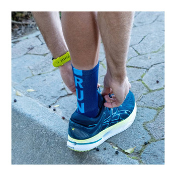Socks - Running - Blue RUN - Size: 8-12