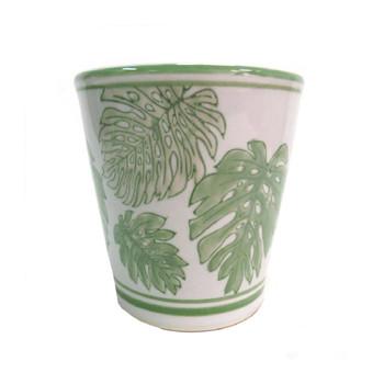 Planter - Green Aruba - 17x16.5cm