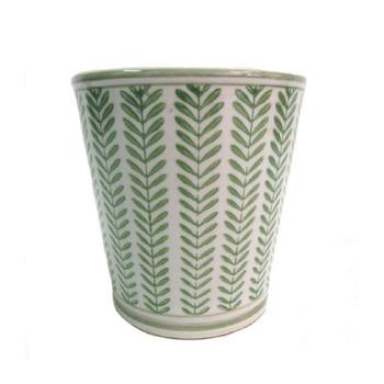 Planter - Green Leavy - 17x16.5cm